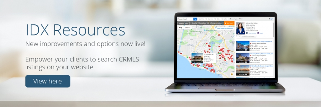 CRMLS Features Strategic Agent Websites and IDX Products in the CRMLS Marketplace.