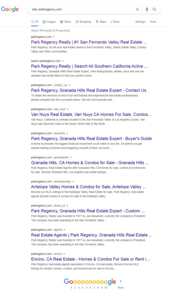 Park Regency Realty Search Results